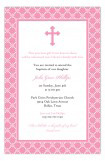 Pink Cross Iron Invitation