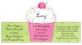Pink Cupcake Stand Ups Invitation