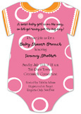Pink Dot Onesie Invitation