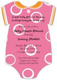 Pink Dot Onesie Invitation