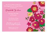 Pink Floral Invitation