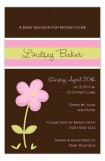 Pink  Flower Invitation