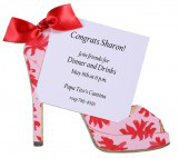 Pink Flower Shoe Invitation