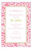 Pink Garden Swirls Invitation