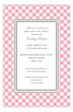Pink Gingham Invitation