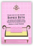 Pink Glamour Baby Crib Invitation