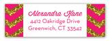 Pink Glitter Chevron Address Label