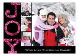 Pink Glitter Joy Photo Card