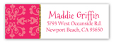 Pink Glitter Princess Address Label