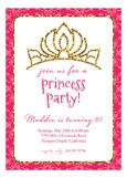 Pink Glitter Princess Invitation