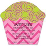 Pink Glitter Swirl Invitation