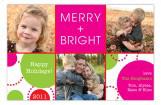 Pink Happy Dot Photo Card