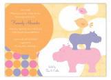 Pink Hippos Invitation