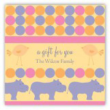 Pink Hippos Square Sticker