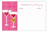 Pink Holiday Spirits Recipe Card