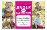 Pink Jingle Bell Photo Card