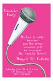 Pink Karaoke Invitation