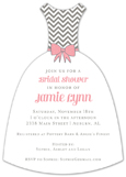 Pink Modern Chevron Invitation