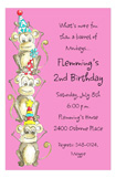 Pink Monkey Around Invitation