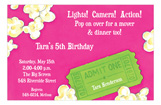 Pink Movie Time Invitation