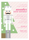 Pink Nutcracker Invitation