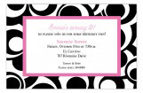 Pink Optical Swirls Invitation