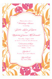Pink Orange Garden Invitation