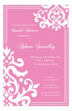 Pink Ornamental Invitation