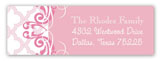 Pink Ornate Pattern Address Label