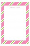 Pink Oxford Stripes Notepad