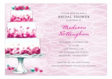 Pink Party Bridal Cake Invitation