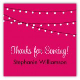 Pink Party Lights Square Sticker