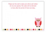 Pink Pattern Owls Enclosure Card