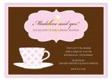 Pink Pattern Tea Cup Invitation