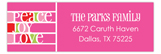 Pink Peaceful Holidays Address Label