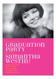 Pink Plaid Grad Photo Card