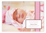 Pink Polka Dots Photo Card