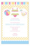 Pink Pool Trio Invitation