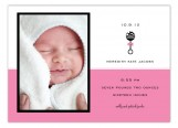 Pink Rattle Icon Photo Card