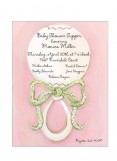 Pink Rattle Invitation