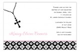 Pink Rosary Beads Invitation