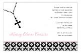 Pink Rosary Beads Invitation