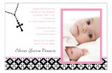 Pink Rosary Beads Photo Card
