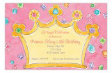 Pink Royal Crown Invitation