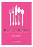 Pink Silverware Soiree Invitation