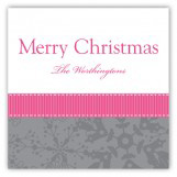 Pink Snowy Grosgrain Square Sticker