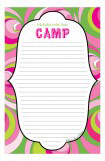 Pink Stars Camp Notepad