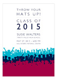 Pink Throw Your Hats Up Invitation