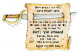 Die-Cute Sword Pirate Die-cut Invitation for Kids