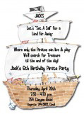 Pirate Ship Die-cut Invitation